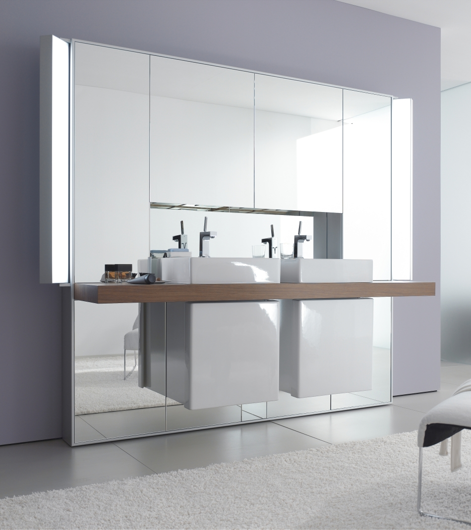 mirrowall mirror wall system from duravit digsdigs. Black Bedroom Furniture Sets. Home Design Ideas