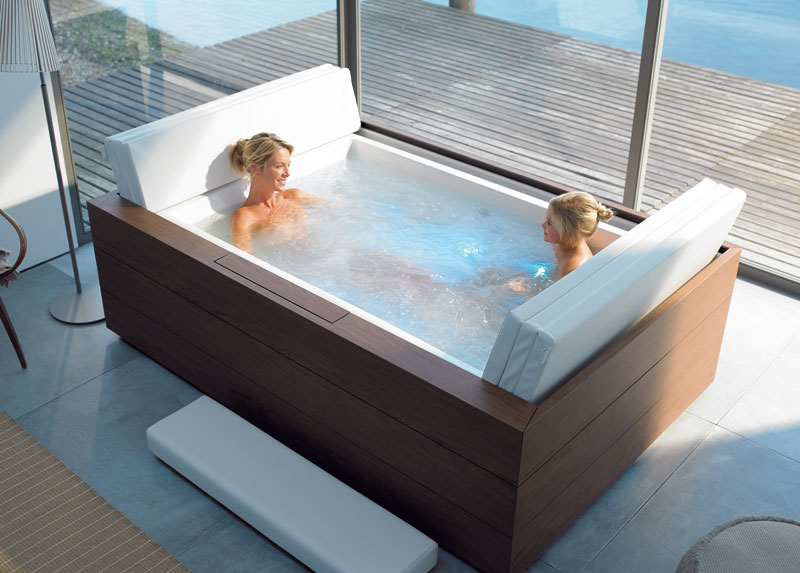 New duravit pool system pool tubs with massage digsdigs for Bathroom ideas with soaker tubs