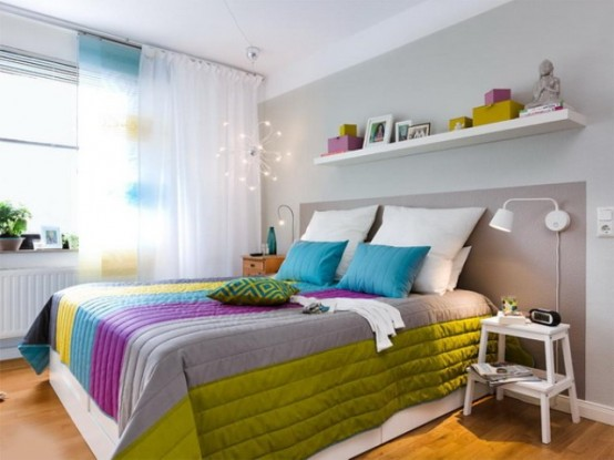 Dynamic And Colorful Ikea Bedroom Renovation