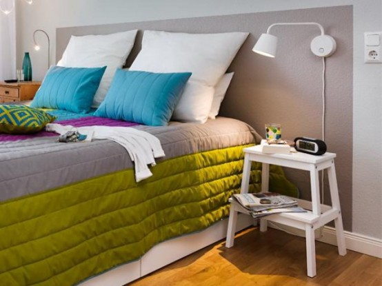 Dynamic And Colorful Ikea Bedroom Renovation Digsdigs