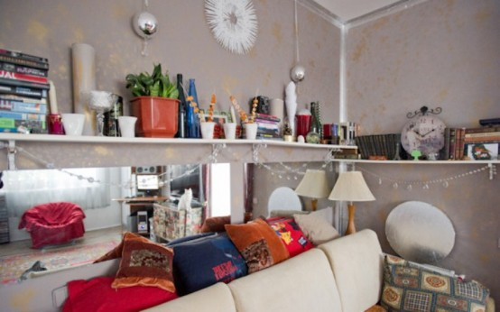 Dynamic Colorful Interior With Vintage Furniture