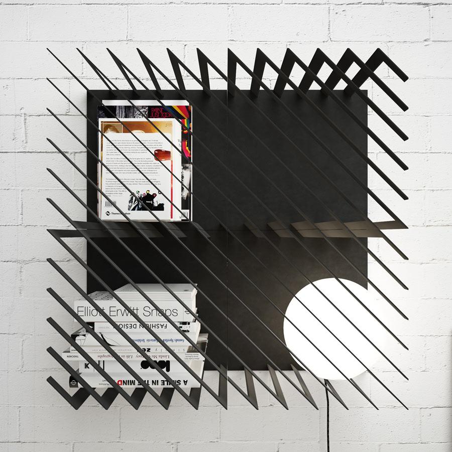 Dynamic, Graphic And Modular Hash Bookshelf