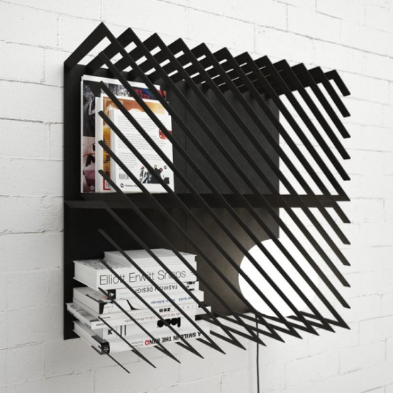 Dynamic Graphic And Modular Hash Bookshelf