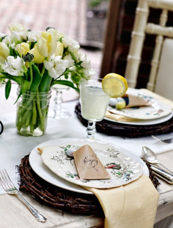 40 easter table d cor ideas to make this family holiday special digsdigs - Easter table decorations meals special ...