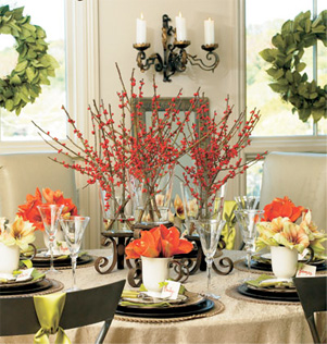 Picture Of easy holiday centerpiece  1