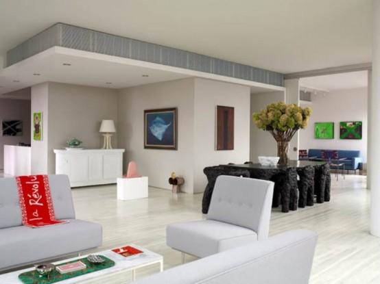 Eccentric Warren's Apartment With Unusual Designer's Furniture