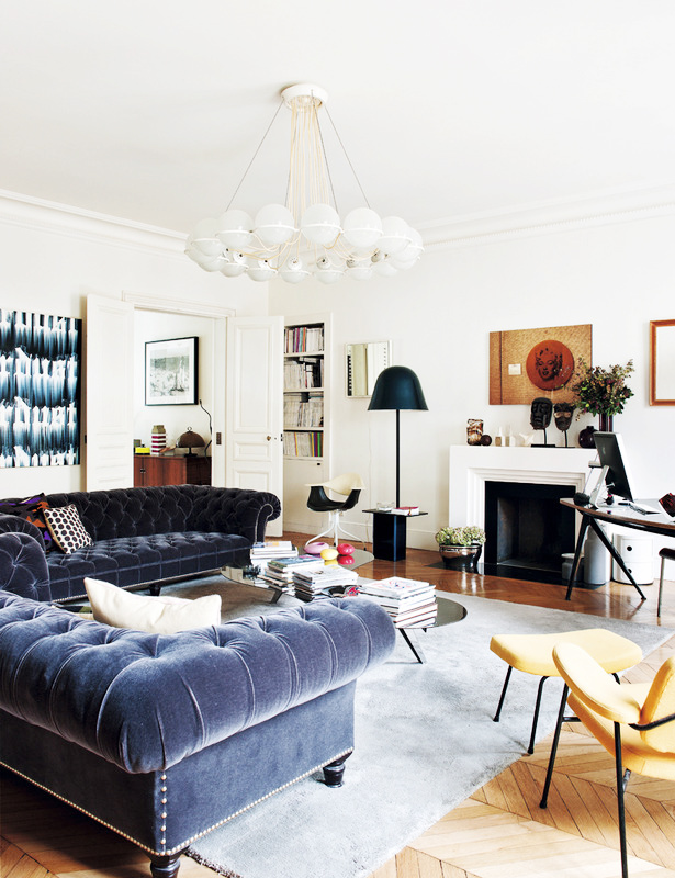 Eclectic But Balanced Paris Apartment Full Of Life