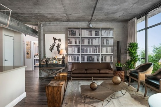 Eclectic Dwell Loft In Chocolate, Beige And Grey