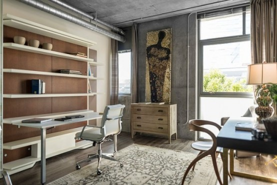Eclectic Dwell Loft In Chocolate Beige And Grey