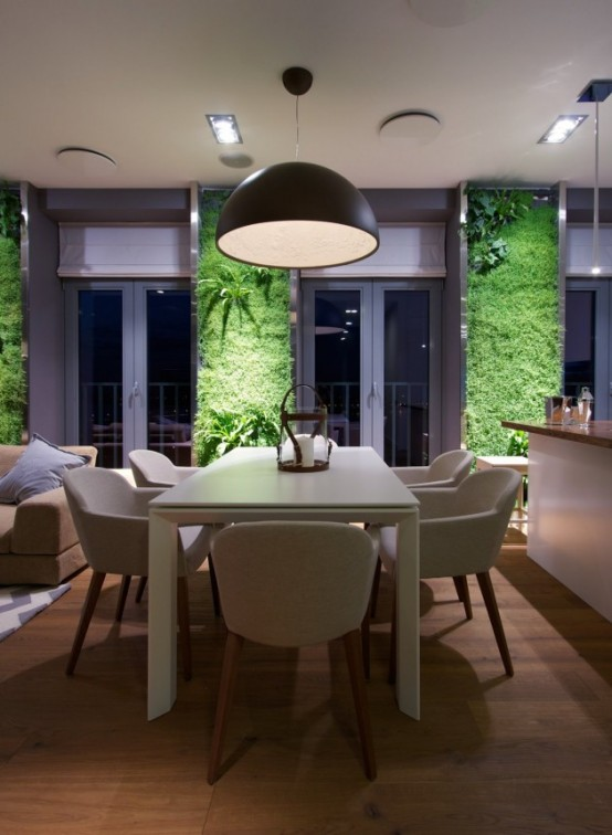 Eclectic Elegant Apartment With Green Walls