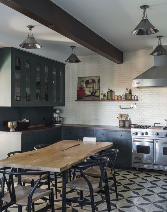Eclectic Kitchen Design With A Timeless Sense