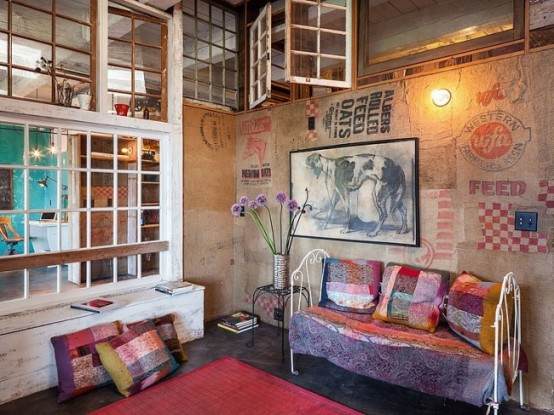Eclectic Loft In A Crazy Mix Of Styles And Colors