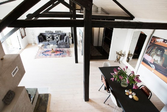 Eclectic Loft With A Scandinavian Loft In Norway
