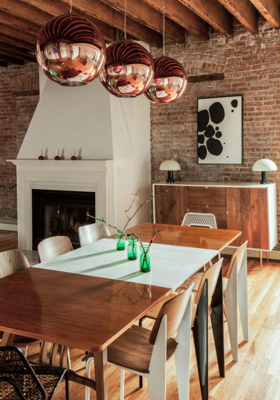 Eclectic Modern Loft With Emerald Accents