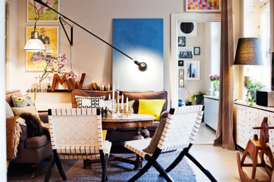 Eclectic Stockholm Apartment With A Mix Of Colors