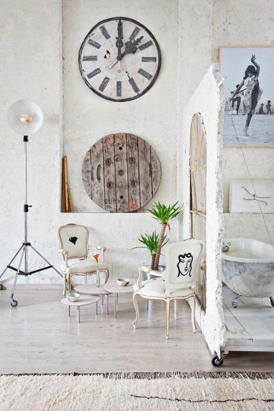 Eclectic White Loft With True Artistic Influence In Design