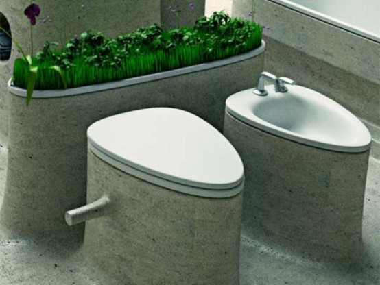Eco-Friendly Bathroom Design Of Endless Concrete