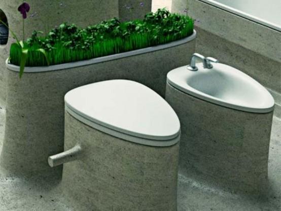 Eco-Friendly Bathroom Design Of Endless Concrete