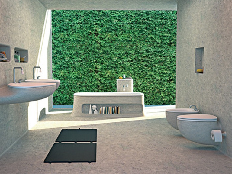 eco friendly bathroom design of endless concrete digsdigs