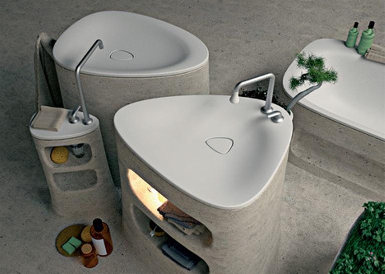 Eco Friendly Bathroom Of Endless Concrete