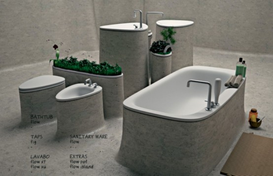 Eco Friendly Bathroom Of Endless Concrete