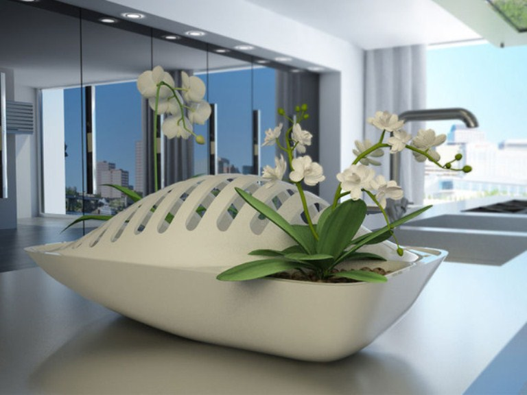 Eco-friendly Dish Rack And Planter In One