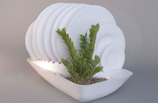 Eco Friendly Dish Rack And Planter In One