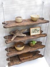 a cute hanging shelving unit