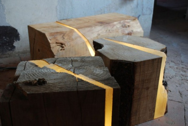Eco-Friendly Lamps Of Wooden Wastes And LED Lights