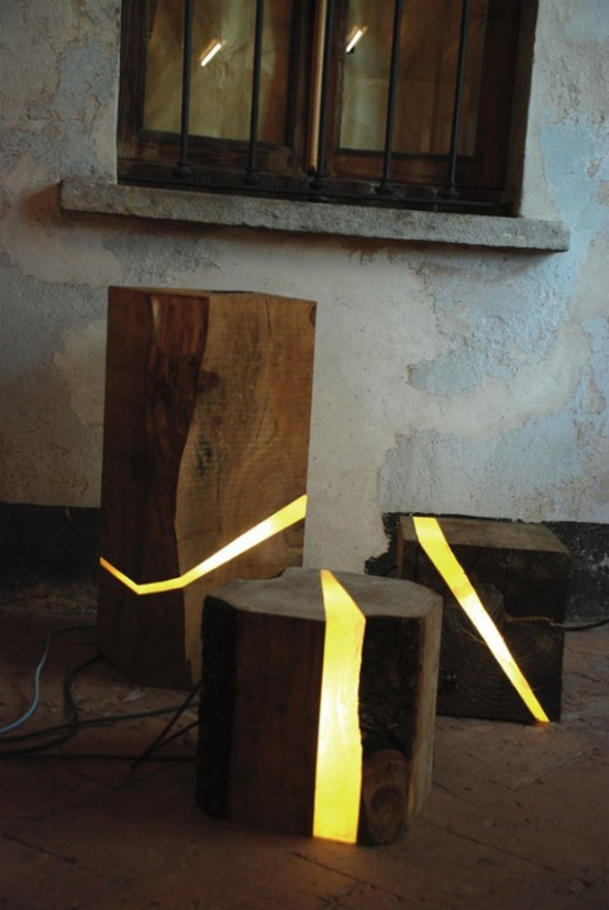 Eco Friendly Lamps Of Wooden Wastes And Led Lights Digsdigs