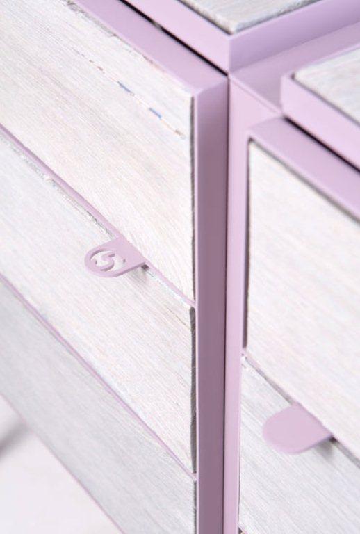 Eco Friendly Lavender Dresser Of Newspaper Wood