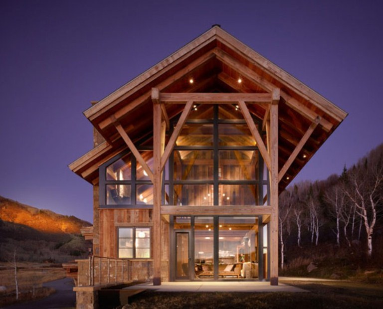 Eco friendly modern rustic resindence in colorado digsdigs for Colorado mountain home plans