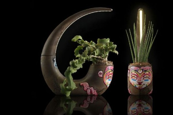 Eco Friendly Planter And Lamp In One