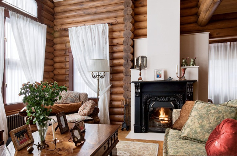 Eco Friendly Wooden House In A Combination Of Styles