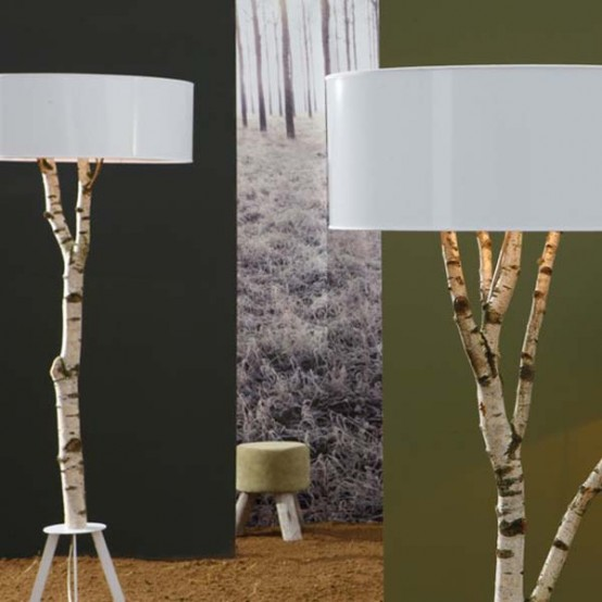 Ecological Lamp Made Natural Birch Digsdigs