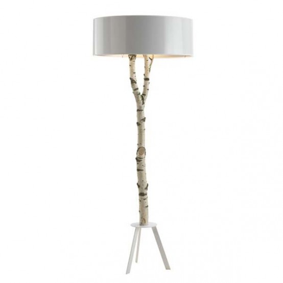 Ecological Lamp Made Of Natural Birch - DigsDigs