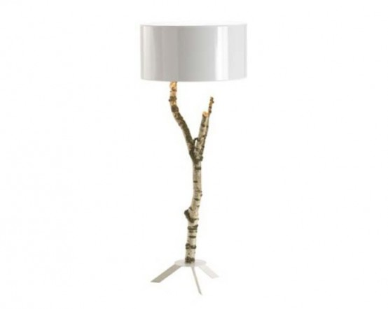 Ecological Lamp Made Of Natural Birch