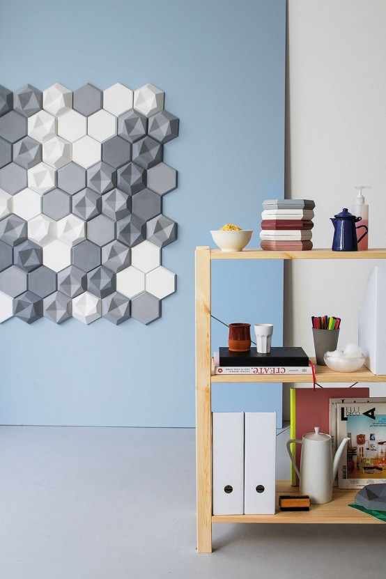 Edgy Hexagonal Concrete Tiles For Eye-Catching Decor