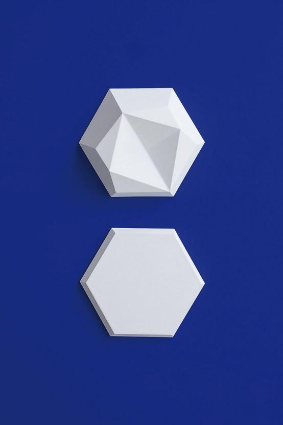 Edgy Hexagonal Concrete Tiles For Eye Catching Decor