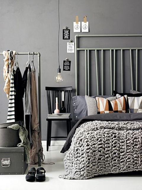 Making A Statement In Your Bedroom 25 Edgy Industrial Beds Digsdigs