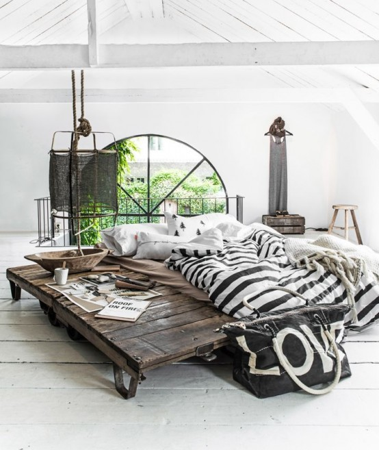 Making A Statement In Your Bedroom: 25 Edgy Industrial Beds