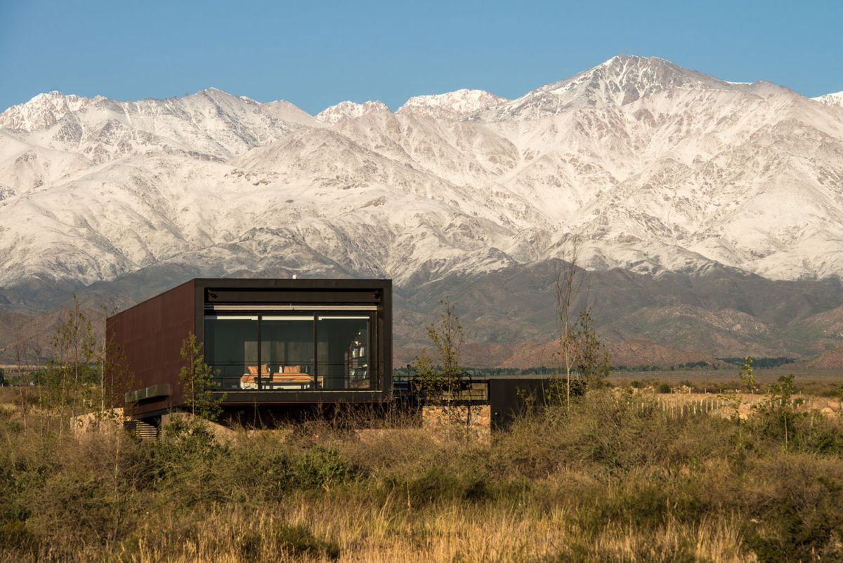 Edgy Modern Andes House Wrapped In A Rusty Metal Shell