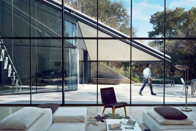 Super Modern House Design With a Living Roof - DigsDigs