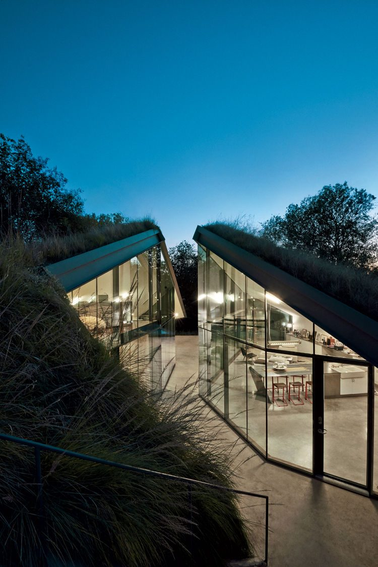 Super Modern House Design With A Living Roof Digsdigs