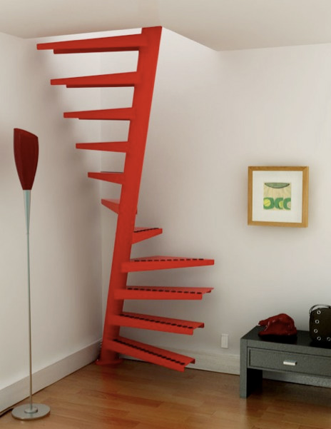 27 really cool space saving staircase designs digsdigs - Small space staircase image ...