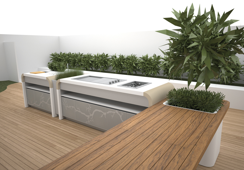 Electrolux modern outdoor kitchen digsdigs Kitchen garden design australia