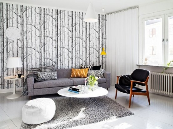 Elegant And Functional Swedish Living Space For A Modern Family