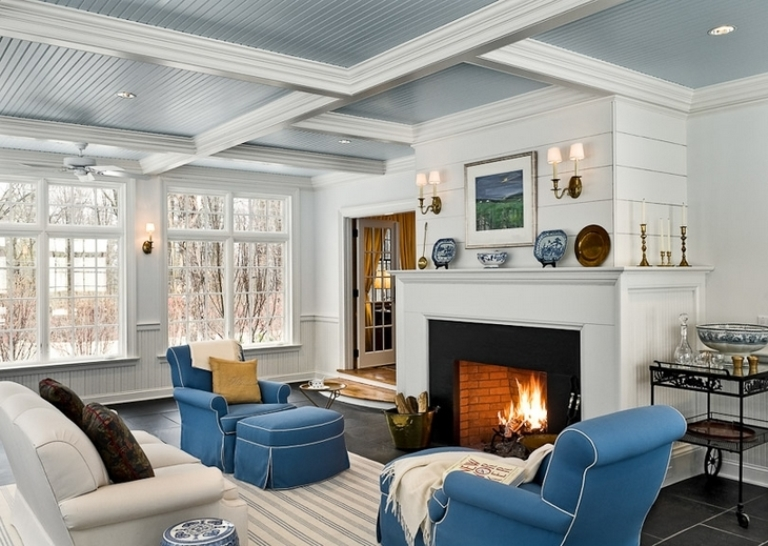 Elegant And Stylish Veranda Design With A Fireplace DigsDigs