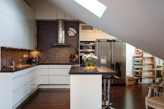 Elegant And Timeless Kitchen Design In Chocolate And White Part 55