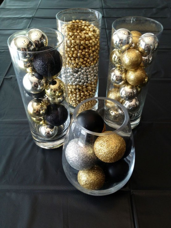 Awesome Elegant Black And Gold Christmas Decor Ideas